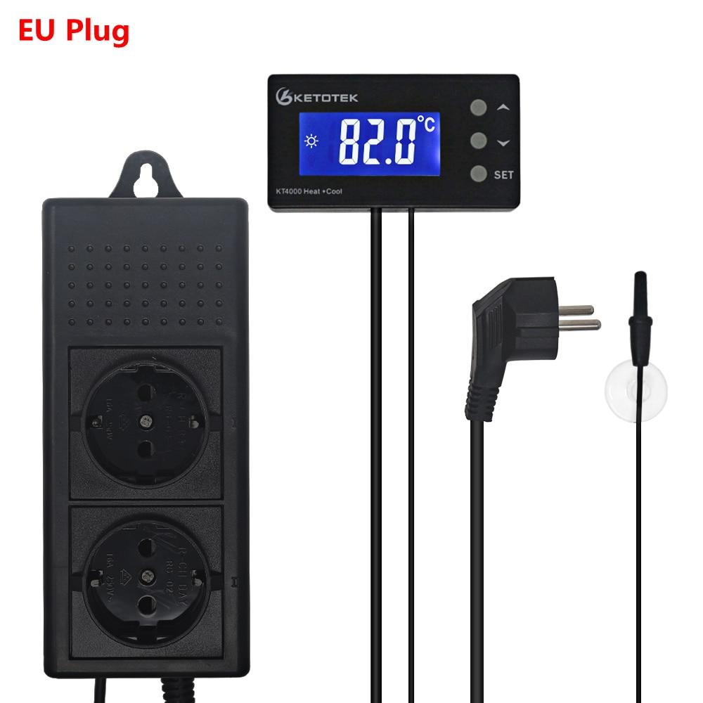 EU US Plug Socket Aquarium Thermostat Temperature Controller Refrigerator Heating Cooling Automatic Thermostat Regulator Control