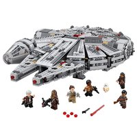 Star Wars Series 05007 05008 Force Awakens Millennium Falcon Building Blocks Compatible with legao 75096 75105 75176 Toy to kids
