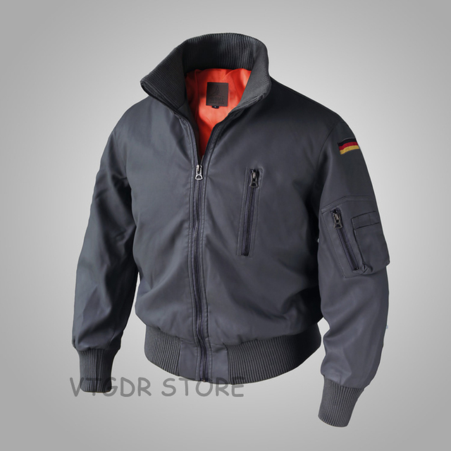 ea869cc034e German Air Force Flying Leather Jacket For Men GAF Active Military Cotton  Coat