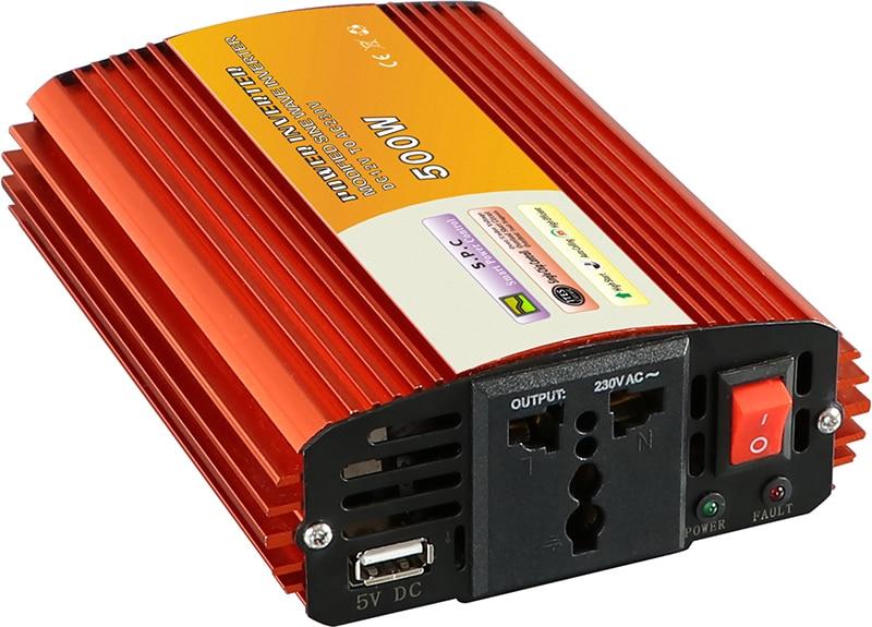 1pcs 500W Car Power Inverter Converter DC 24V to AC 110V or 220V Modified Sine Wave Power Solar inverters