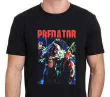 2017Short Sleeve Men Tshirt Tops Summer  Predator  Vintage Movie Picture T-Shirt Size: S-M-L-XL-XXL