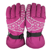 Top Quality Outdoor Camping Waterproof Women Sport Ski Gloves Female Warm Winter Snowboard Gloves Windproof Snow