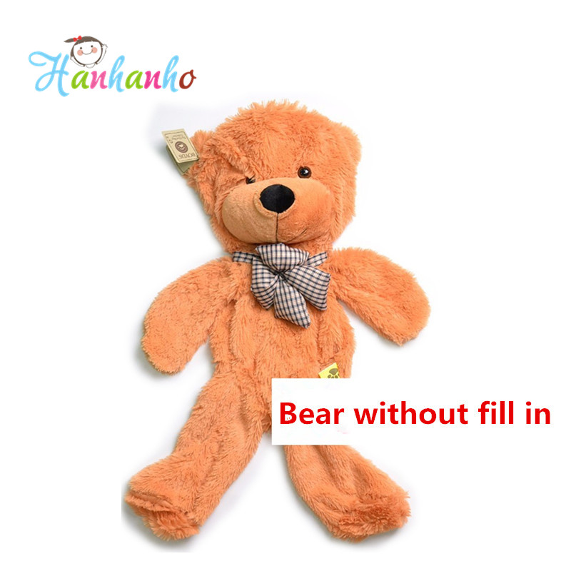 Factory Wholesale 180cm Empty Teddy Bear Skin 70.2 inch Giant Plush Toy Stuffed Animal Doll 4 colors stuffed animal 44 cm plush standing cow toy simulation dairy cattle doll great gift w501