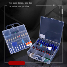 50pcs/box Fishing Accessories Kit Tool Set Box Beads Lure Bait Jig Hook Swivels Tackle With