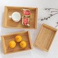 1 шт. бамбуковые деревянные прямоугольные чаши тарелки для пакеты для ланча Чай Кофе Коктейльные блюда лотки для фруктов домашнее изготовле...