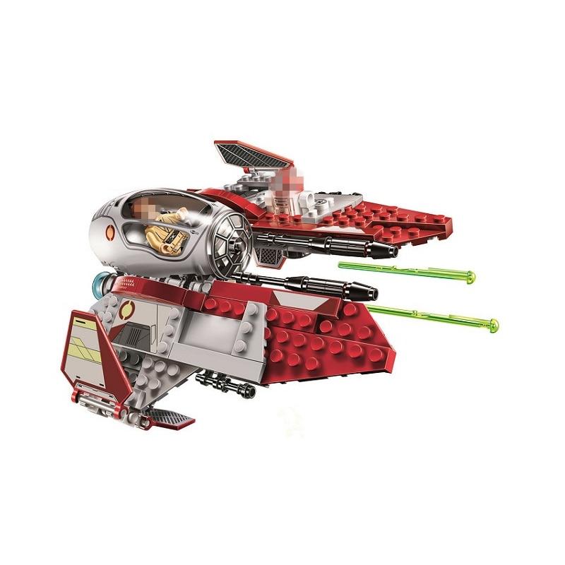 220pcs Star Wars Obi-Wan's Jedi Interceptor Fighters Building Blocks Bricks Toys Compatible With LegoINGly Children Model Gifts star wars jedi academy