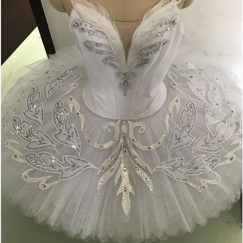 HQ0002 Dance Favourite High Quality White Swan Ballet Tutu Stage Performance Ballet Costumes Professional ballet tutu