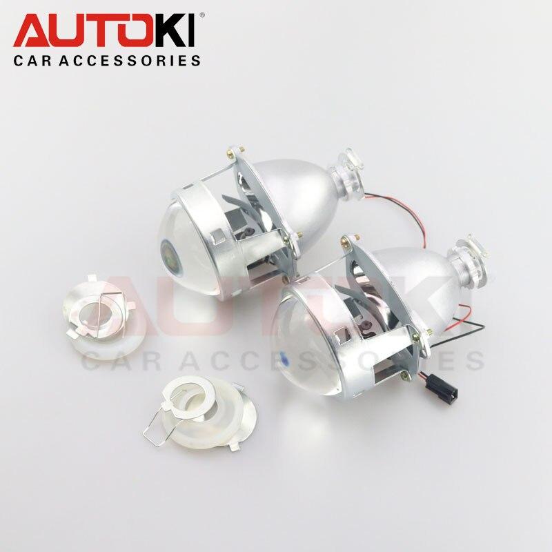 Autoki Upgrade Metal 3 0 H1 Super HID Bi xenon Lens Projector lenses Headlight H1 H4