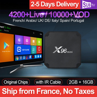 IPTV France X96 Mini Box With SUBTV 1 Year IPTV Code Android 7.1 S905W 2G+16G French Arabic Italy UK Portugal IP TV Vod X96mini