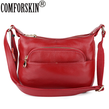 COMFORSKIN Brand New Arrivals Cross-body Bags For Women Luxurious Cowhide Leather Handbags Messenger Bag Bolsas Femininas