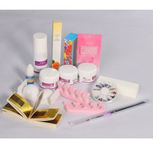 Pro Acrylic Powder Liquid Primer Decoration Kits DIY Nail Art Set Kit w/ Brush Sanding File 3D Model