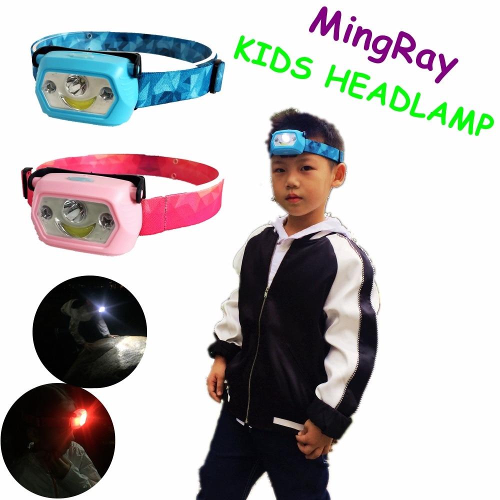 Детский налобный фонарь MingRay, заряжаемый от USB светодиодный головной фонарь для кемпинга, студентов, креатив, праздничный подарок для мальчи...