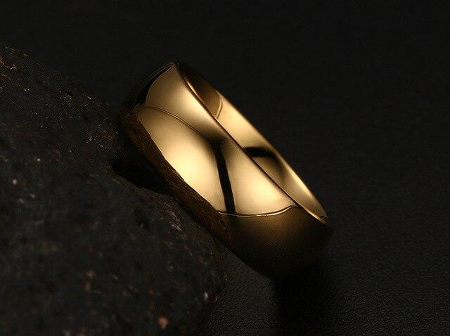 Фото мужские кольца из вольфрама золотого цвета размеры 6 7 8 9 10