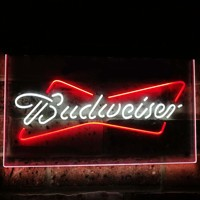 Budweiser Classic Beer Bar Decoration Gift Dual Color Led Neon Light Signs st6 a2009