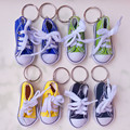 40 pairs canavas обувь девушка кукла аксессуары подарок babyshower партия теннис тапки брелоков брелок Turnschuhe 2.95 inch KC096