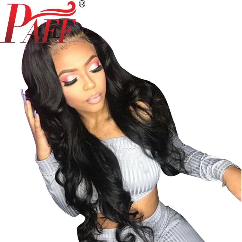 PAFF 13*6 Lace Front Human hair Wig Body Wave Brazilian Remy Hair Pre Plucked Wig With Natural Hairline Baby Hair Free Part ...