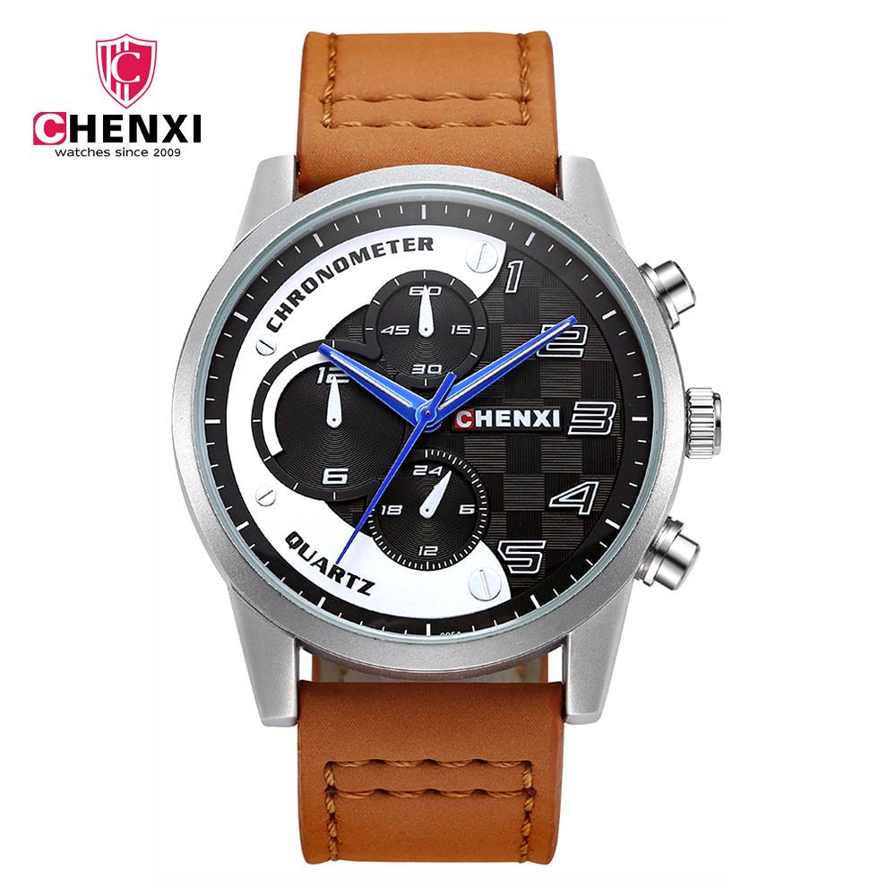 CHENXI Casual Men Watches Luxury Brand Leather Strap Bracelet Wristwatch High Quality Male Watch Fashion Gift Hand Clock NATATE natate new popular men fashion quartz watch leisure business luxury chenxi brand stainless sports wristwatch 1240
