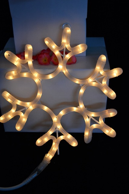 Rope Light Snowflake Aliexpress buy ul listed milky white incandescent rope light ul listed milky white incandescent rope light motif 2d snowflake motif light 12 snowflake window audiocablefo