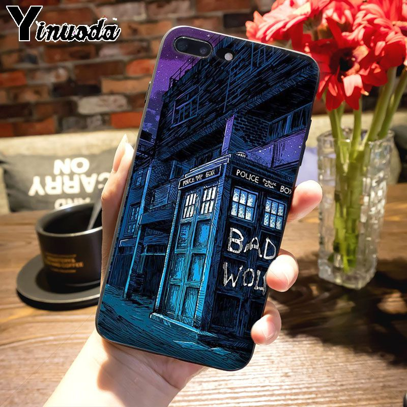 Yinuoda Tardis Box Doctor Who On Sale Luxury Cool Phone Accessories Case For Iphone 7plus X 6 6s 7 8 8plus 5 5s Case Phone Bags & Cases Cellphones & Telecommunications