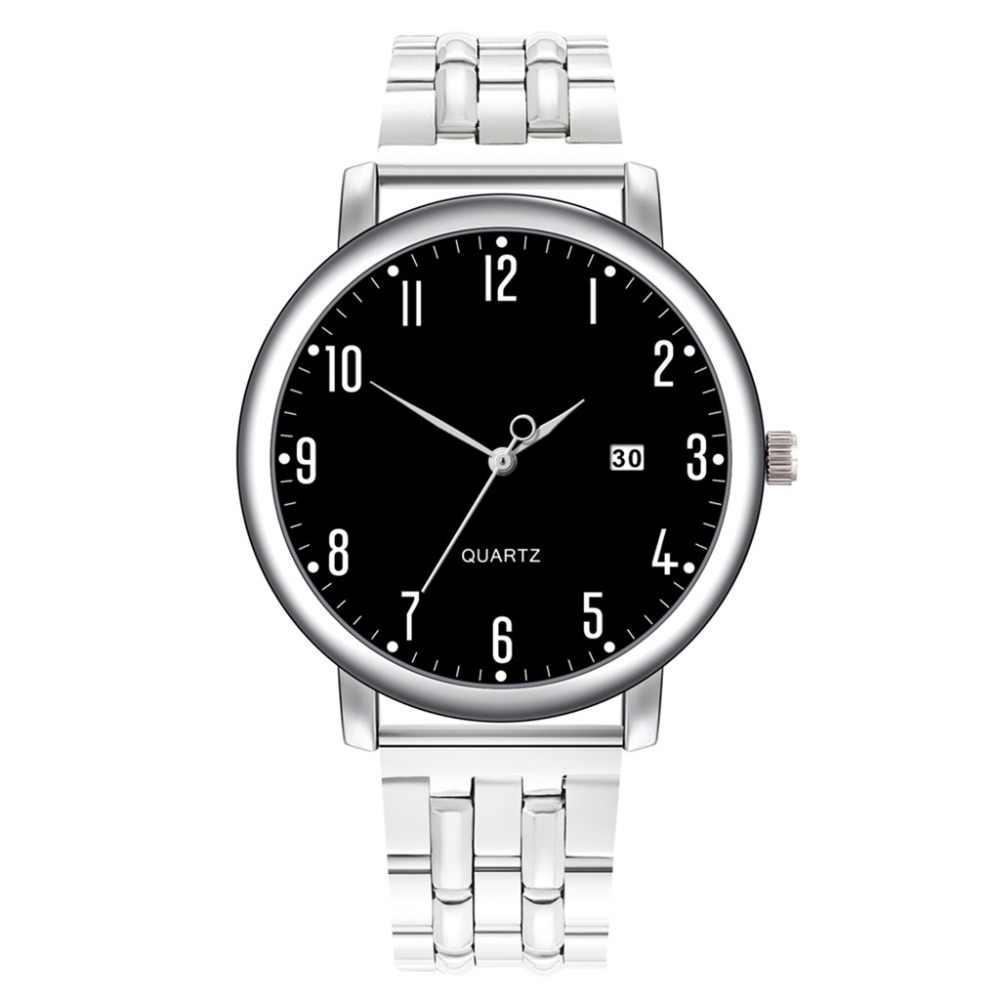 גברים יד שעונים אנלוגי קוורץ שעון מקרית צמיד אבזם relogio masculino מזדמן נירוסטה חגורת relojes para hombre Q5