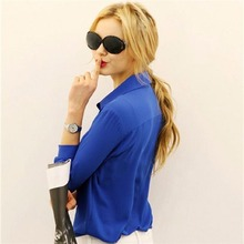 5 Colors Work Wear 2017 Women Shirt Chiffon Blusas Femininas Tops Elegant Ladies Formal Office Blouse Plus Size XXL