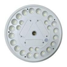 26 белый светодиодный круглый дизайн на солнечных батареях Светодиодный Флагшток свет открытый сад