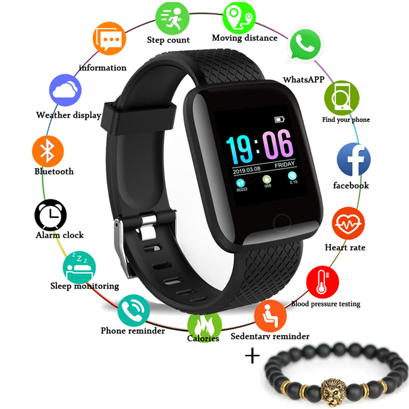 Gejian New Smart Watch Men Women Ip67 Sports Heart Rate Monitor Bluetooth Smart Bracelet Fitness Tracker Information Display Be Novel In Design Watches