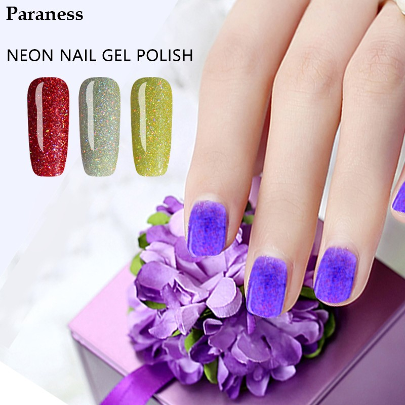 Paraness New 7ml Soak Off Neon Color Nails Gel UV LED Base