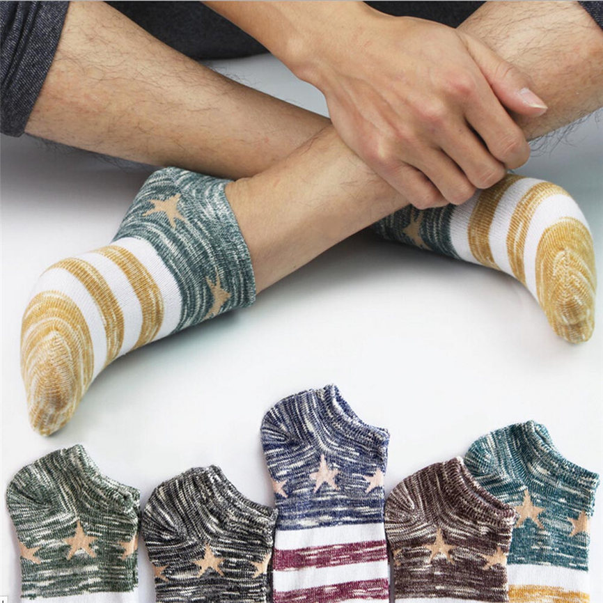 Women&Mens Cotton Warm Socks Star Business Crew Ankle Low Cut Casual Stripes Classic Cotton Socks Boat Socks Dropshipping 1220