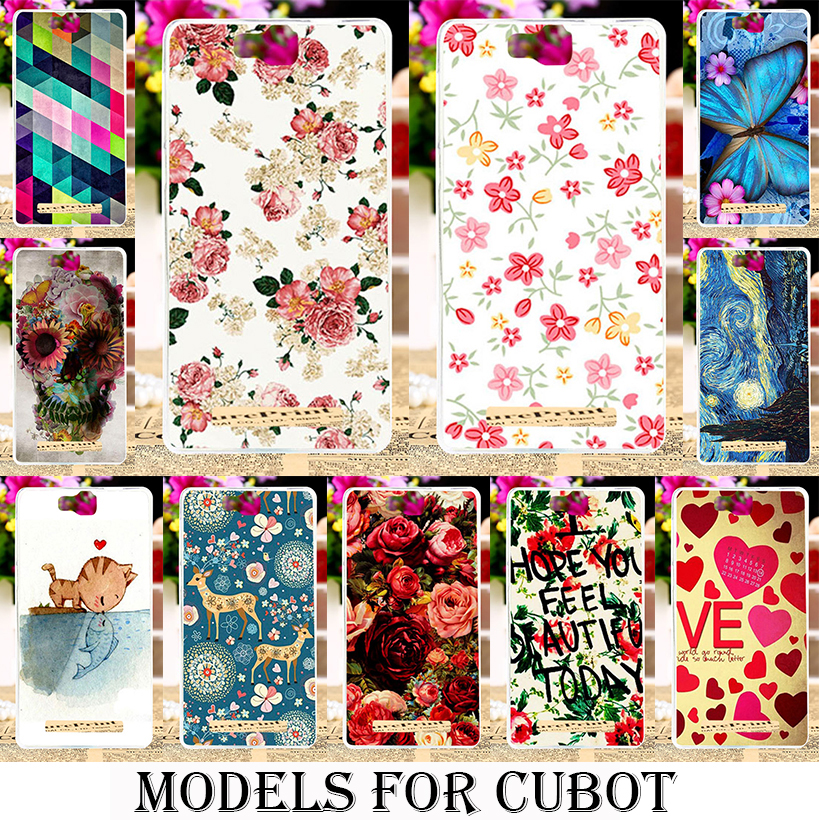 Phone Cover Cases for Cubot Note S Dinosaur H2 Rainbow X15 X16 X17 Z100 P12 Max Peony Flowers Background Silicone soft tpu bags