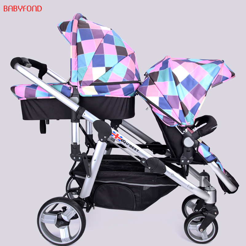 Twin Baby Cart High Landscape Carts Can Sit Down And Sit Back And Down down and dirty