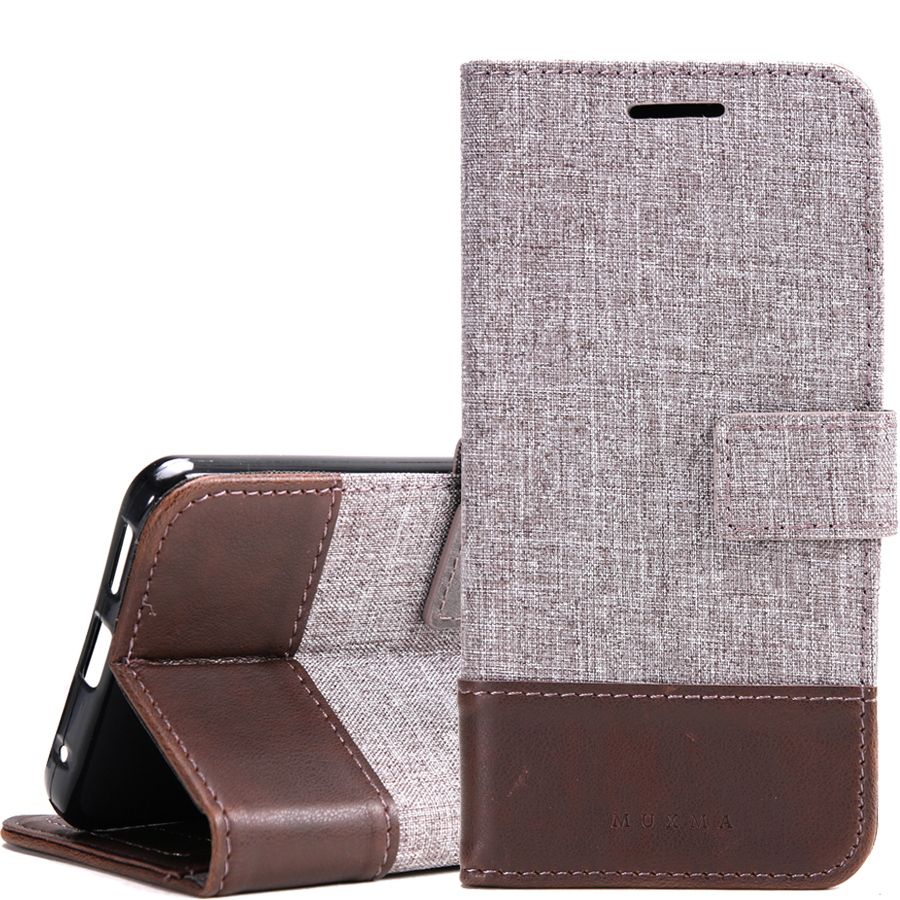Oneplus 3 3T Case Canvas Leather Case For Sony Xperia XA Ultra Wallet Cover For Nokia 6 Flip Case For LG G5 G6 Google Pixel XL