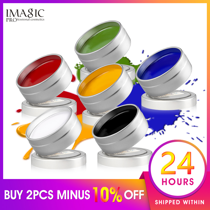 IMAGIC Face Paint Body Makeup Art Painting Drawing Pigment Flash Glow Color Fancy Paint For Party Halloween Fancy Carnival