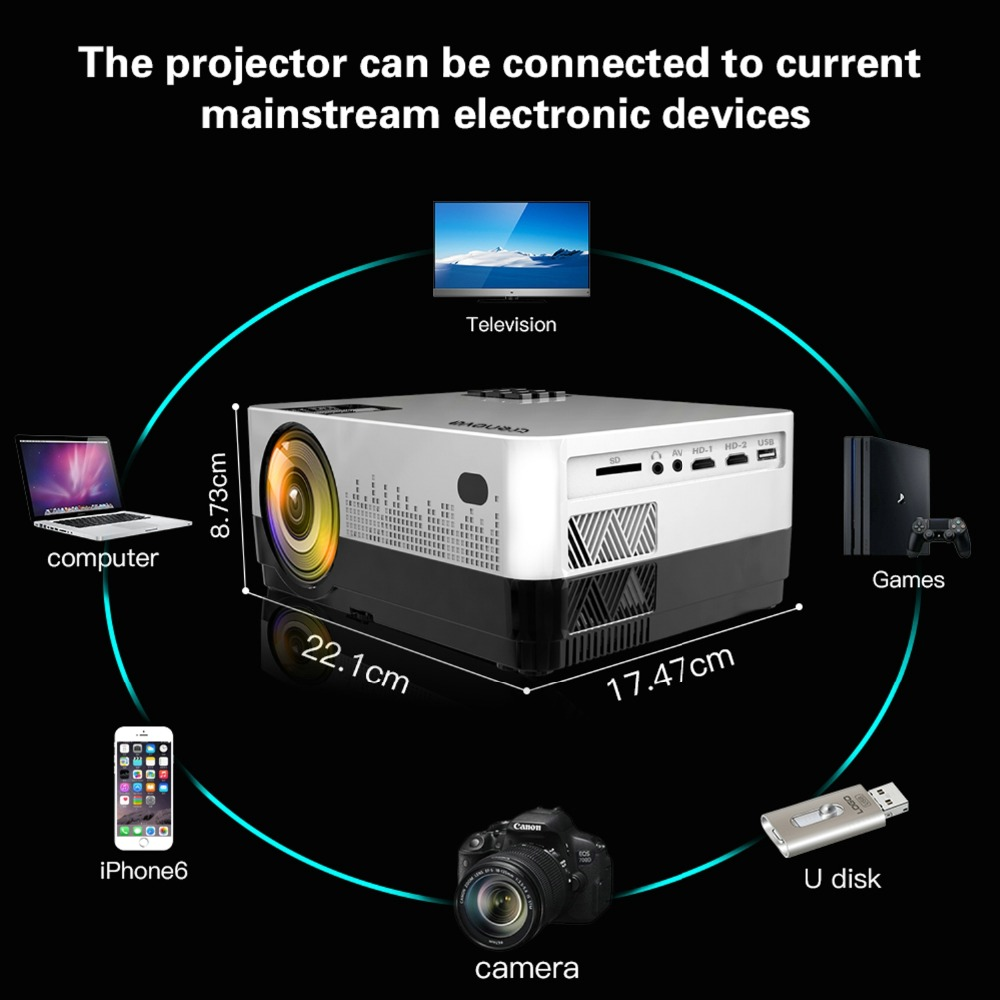 Image 5 - CRENOVA Newest Video Projector With Android 6.1OS 4300 Lumens WIFI Bluetooth HD 1280*728P Home Theater Movie Projector Beamer-in LCD Projectors from Consumer Electronics
