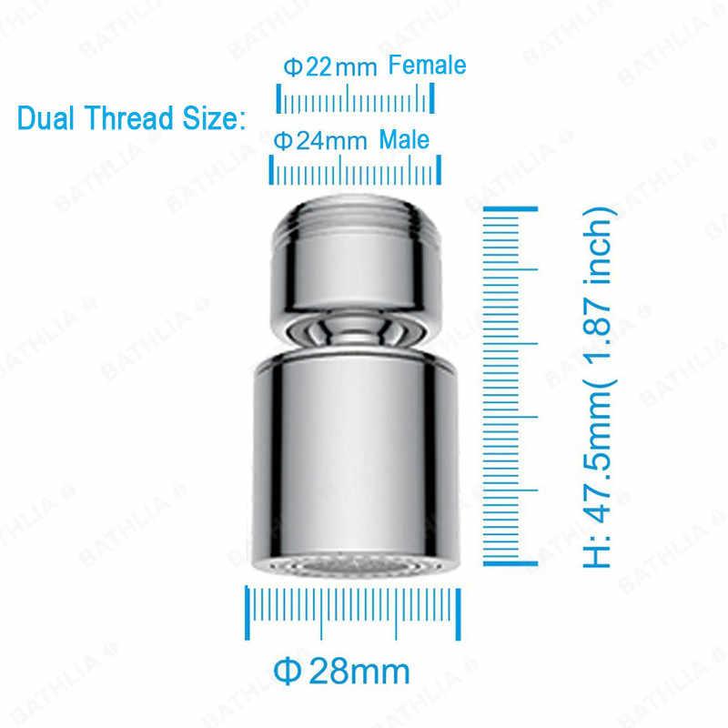 Fungsi Ganda Hemat Air Keran Aerator Mixer Keran Aerator Nozzle Penggantian 360 Putar Kitchen Faucet Aerator