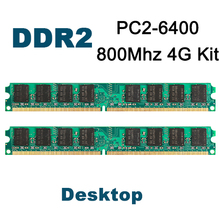 Kit of 2 DDR2 800MHz 2GB X 2,Super Speed Memoria Ram for All Motherboard Desktop Computer Dual Channel