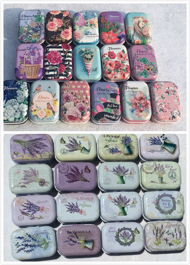 32 Pcs Beauty floral Lavender Design Mini Package Tin Box Organizer Pillbox Jewelry Container Girl Favor Household Storage Box32 Pcs Beauty floral Lavender Design Mini Package Tin Box Organizer Pillbox Jewelry Container Girl Favor Household Storage Box