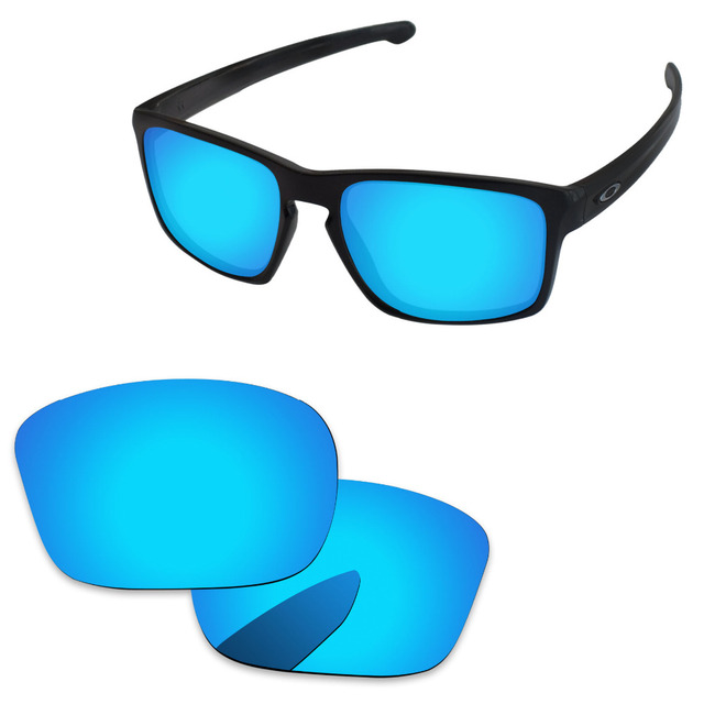 ca06bab365d1 Ice Blue Mirror Polarized Replacement Lenses For Sliver Sunglasses Frame  100% UVA & UVB Protection