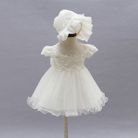 Baby Girl Wedding Dress 2017 Newborn Baby Girl 1st Birthday Outfits Girls Christmas Dress Lace Tulle