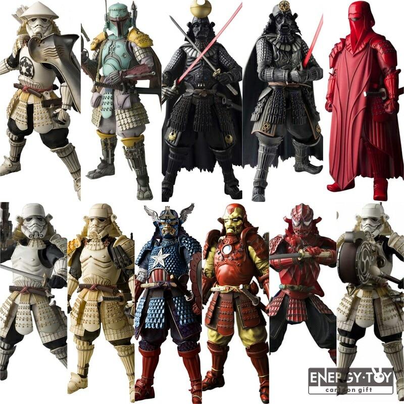 Star Wars Action Figures – Samurai Taisho vader Boba Fett Ashigaru taikoyaku Akazonae Teppo Ahigaru Yumiashigaru Koutetsu