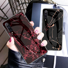 Tempered Glass Case for Xiaomi Mi 9 Mi9 High Hardness Marble Back Cover capa xiaomi9
