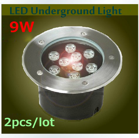 ФОТО 2pcs*9W LED Underground lamps IP67 Buried Lighting Outdoor Lamps RGB/Warm/Cold white DC12V Free Shipping
