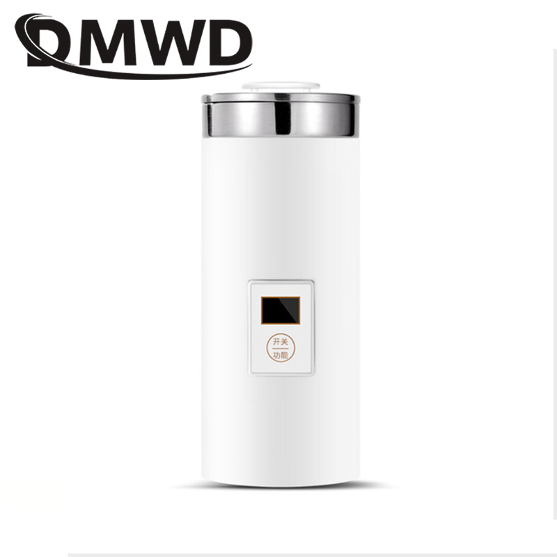 DMWD 0.5L Thermal Insulation Electric Kettle Hot Water Heating Bottle Mini Coffee Boiler Travel Portable Slow Cooker Tea Pot Cup