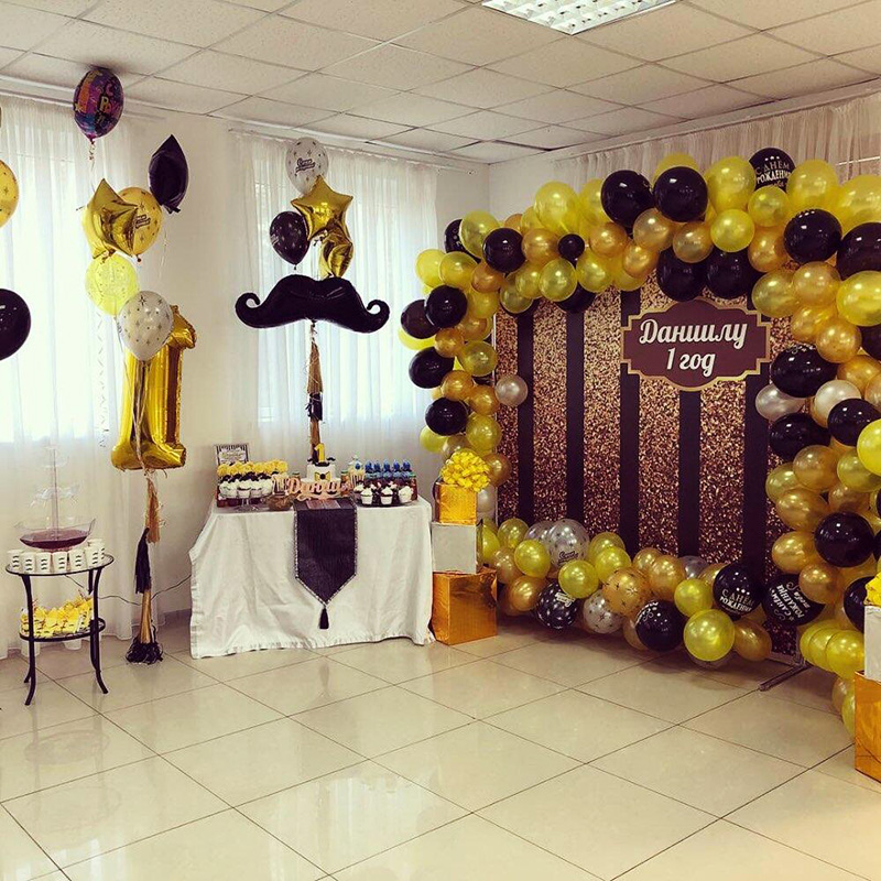 20pcs Black And Gold Party Valentines Day Decorations For