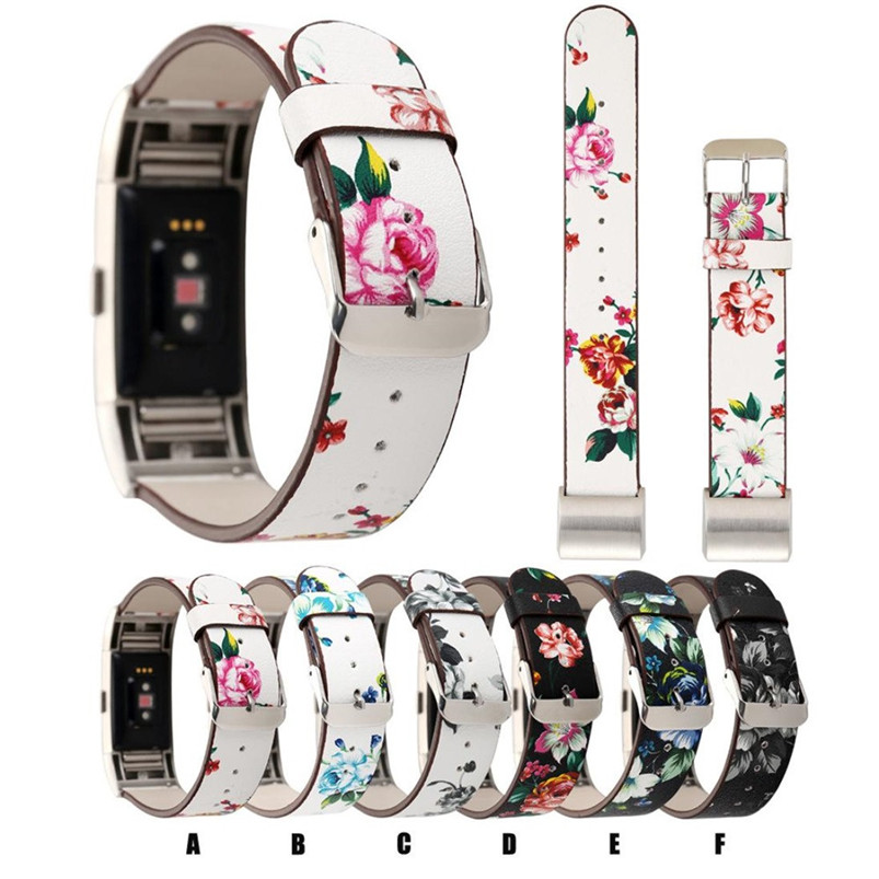 2017 Hot Sale New Fashion Pattern Leather Strap Replacement Watch Band For For Fitbit Charge 2 High Quality hot sale open front geometry pattern batwing winter loose cloak coat poncho cape for women