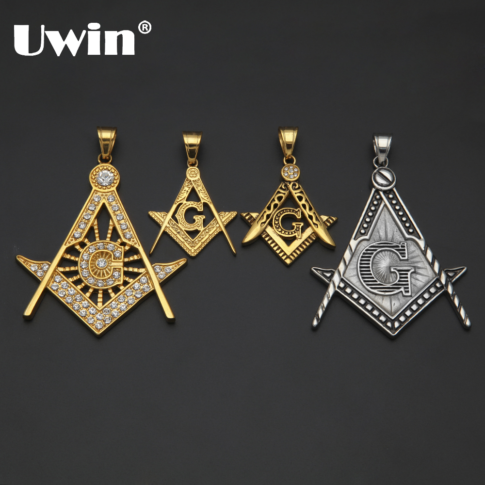 Wholesale Jewelry Classic The Most Popular Hip-hop Masonic Pendant Collection Stainless Steel Freemason Masonic Compass G