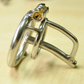 Stainless Steel Small Chastity Cage with Urethral Insert Male Chastity Device 40 45 50mm size Ring to choose G7-1-203