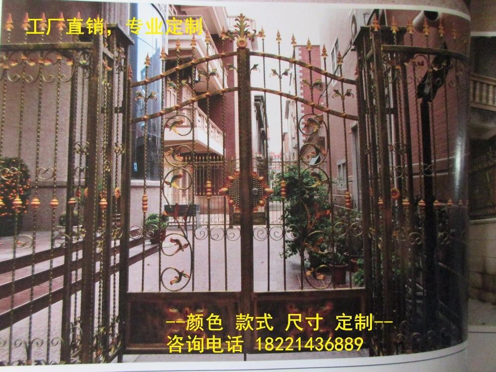 Custom Made Wrought Iron Gates Designs Whole Sale Wrought Iron Gates Metal Gates Steel Gates Hc-g44