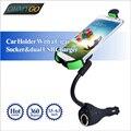 Автомобильный держатель телефона с двойной зарядное устройство Usb прикуривателя стенд колыбель для Iphone Samsung Nokia HTC Huawei Lenove Xiaomi
