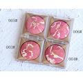 1pcs New  Baked Blush Makeup Palette Long Lasting Double Color Cosmetic Mineral Cheek Naked Blusher Face Powder Orange Pink